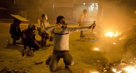 Enfrentamientos después de las protestas. / RODRIGO ABD (AP)