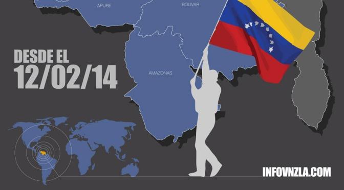 Mapa de protestas en Venezuela