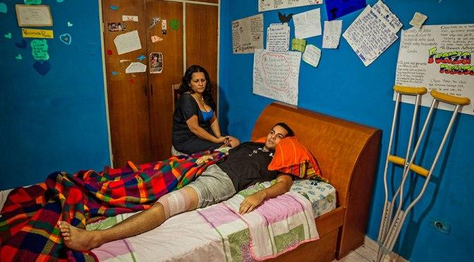 En Venezuela los manifestantes apuntan a sus cicatrices