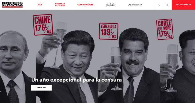 RSF: Puesto 139 de 180, salud Nicolás!